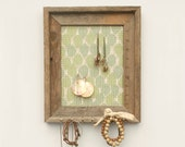 Rustic Leaves Barnwood Frame - Green & Blue - 8 x 10