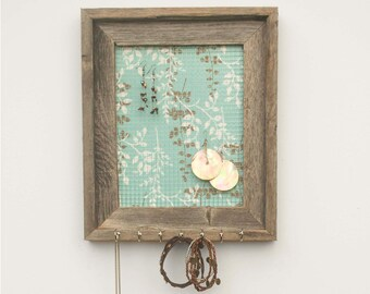 Blue Branches Jewelry Holder - Light Blue & Brown - 8 x 10