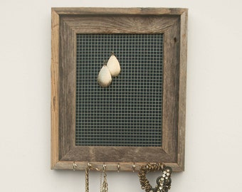 Buried Treasure Jewelry Holder - Navy Blue - 8 x 10