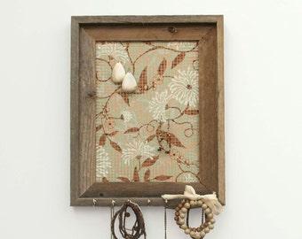 Dandelion Wishes Barnwood Jewelry Holder - Tan & Mint Green - 8 x 10