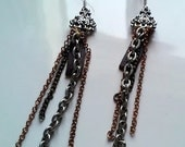CIAO Leather and Chain Earring