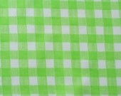 vintage fabric fat quarter - green gingham