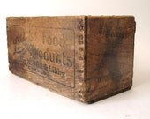 Hold for Jess---Vintage Libby's Food Crate- Wooden Industrial Chic Storage Box