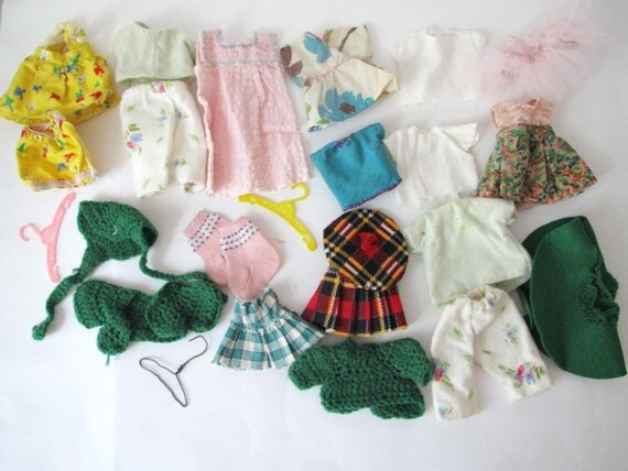Vintage Lot of Doll Clothes- Handmade Assortment of Barbie Doll Clothes