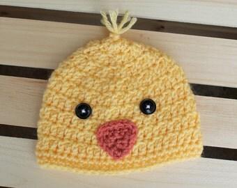 Sweet Duckie Crochet Beanie