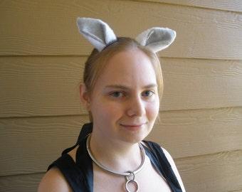 Grey and White Cosplay Deer Ears Halloween Barrettes Kawaii