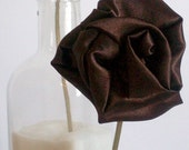 Brown Rosette on Skinny Gold Headband