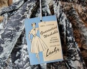 1950s NOS House Wrap Dress Country Toile