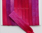 Ombre Tie Dye Elastic 3 Yards Tropical Jewel Tie Dyed Fold Over Elastic