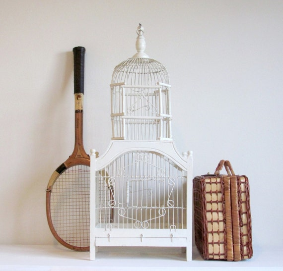Sale Decorative Bird Cage Victorian Wood And Wire Dome