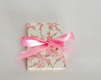 Pink Cherry Blossom Accordion Book