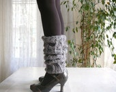 Light Taupe Mohair Leg Warmers