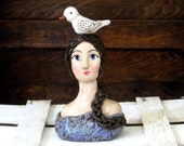 Woman with Dove sculpture - Reserved for Maria
