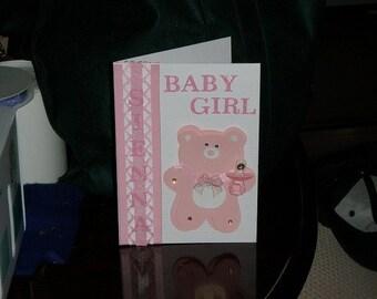 Handmade Baby Girl Greeting Card