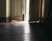 Door Photograph - Dark Light Moody Mysterious Photography - Gothic Print Brazil Photo Black Cream Travel Wall Art Home Decor Church