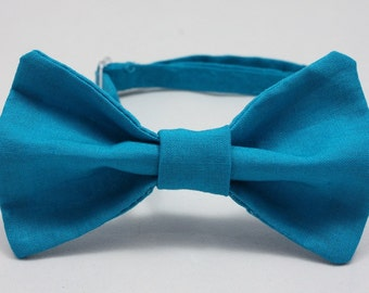 Teal Clip on Bow Tie - Infant, Toddler, Boys
