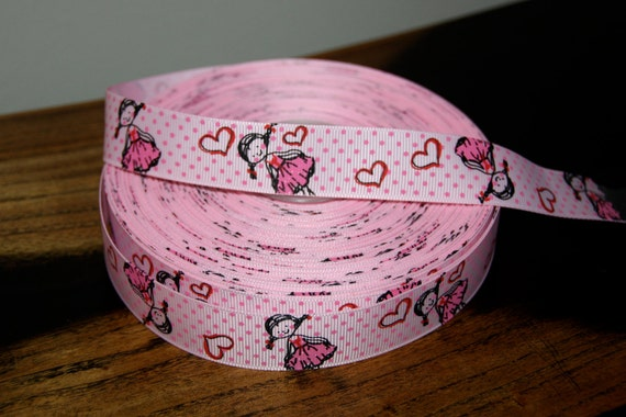 5 Yards Pink Ballerina Grosgrain Ribbon