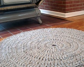 Custom Made Hand Crochet Round Rug - Large Size - 5 feet