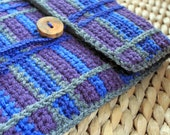 iPad Case - Plaid Crochet with Fleece Lining - Custom Color Combination
