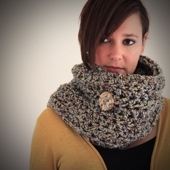 SALE - Close Out Pricing - 40 percent off - The Button It Up Scarf - Extra Long Crochet Scarf with Reclaimed Wood Buttons - Custom Color