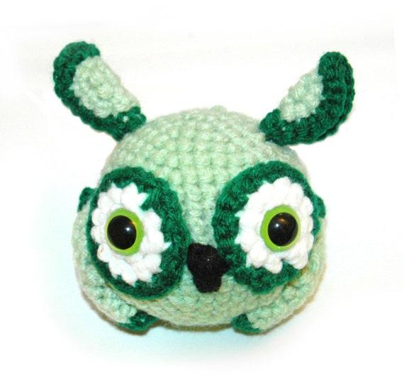 Green and Mint Owl - Rainbow Owl Series