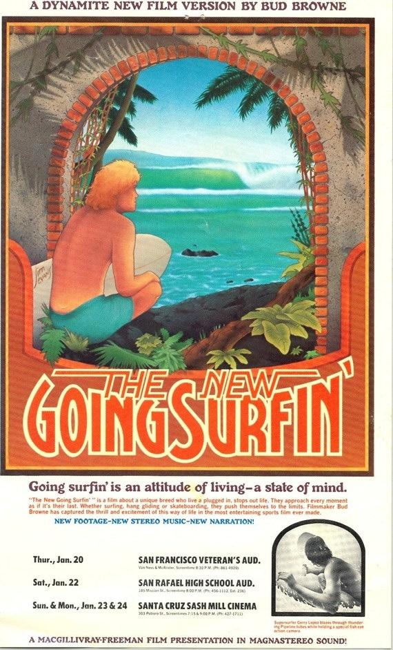 Vintage Surf Movie Handbill 1977 Original The New Going