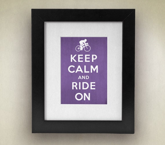Keep Calm and Cycle On Vintage Inspired 8x10 Poster Print by Caramel Expressions