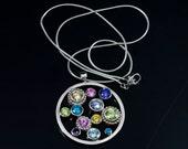 Pop Pendant Neckace - Sterling Silver & Cubic Zirconia