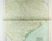 Take 50% OFF - 1900 Texas - Eastern Part - Antique World Map