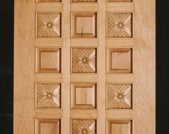 Hand Carved Twenty One Panel Door in Maple