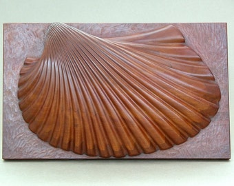 Sea Shell Sculpture in Mahogany