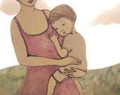 When she held her child, she could walk through the forest, eyes high above the treetops.
