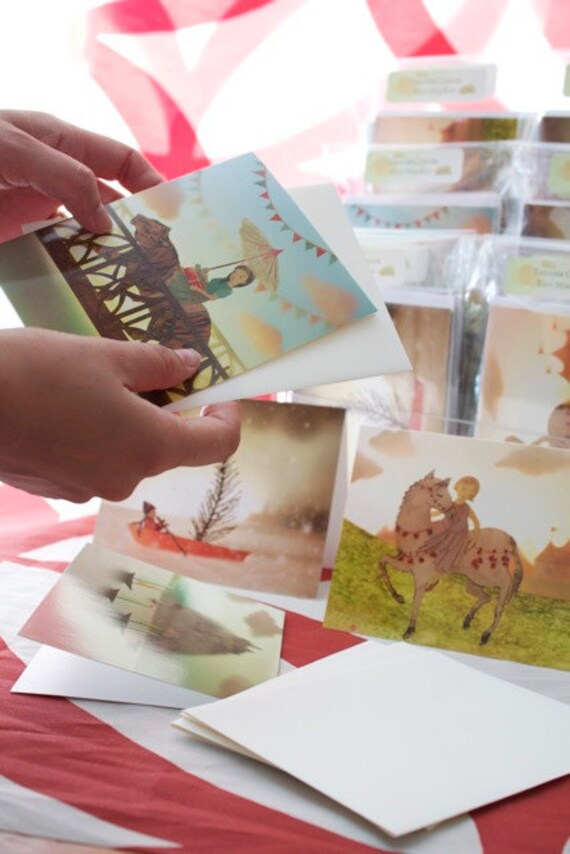 Sweet little cards for your letters...