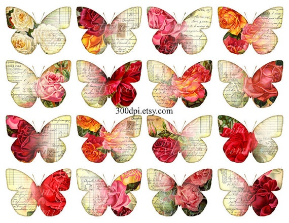 Vintage Butterflies Clipart Clip Art Printable Download By