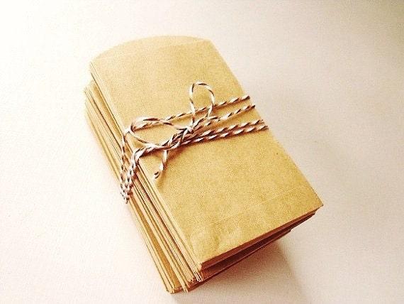 Mini Kraft Paper Bags - 100 Piece Bundle