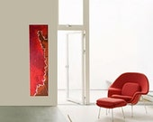 FRACTURE original abstract modern painting - gallery fine art - contemporary interior design - ooak home wall decor - red brown