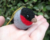 Bird Ornament - Needle Felted Animal - Soft Sculpture