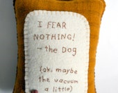 "Personalized Pet Pillow - ""The Vacuum"" - Funny Novelty Pillow"