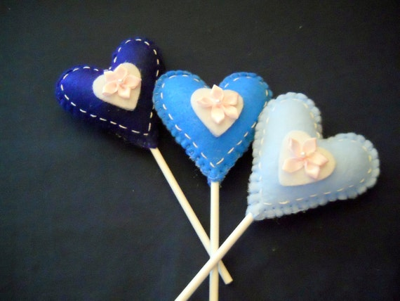 Lollipop Heart Plant Sticks - Home Decor - Plant Pokes