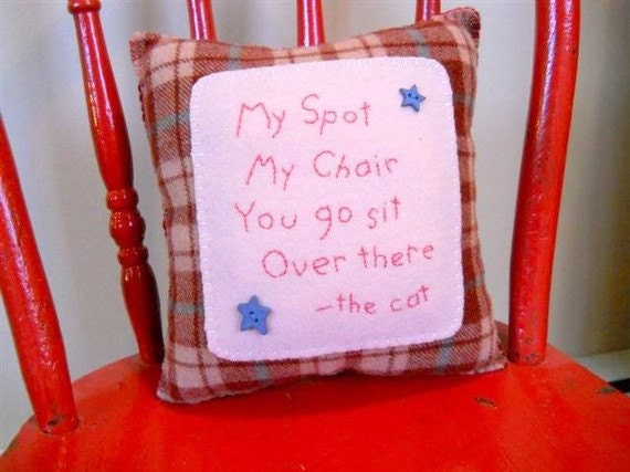 "Personalized Pet Pillow - ""I'm Sittin' Here"" - Novelty Throw Pillow"