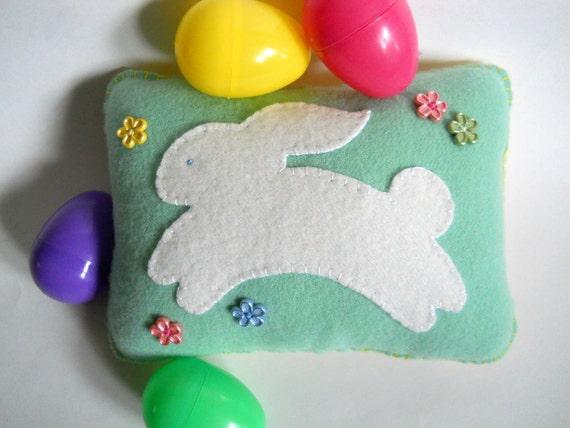 Spring Bunny Pillow - Easter Bunny - Prim Shelf Sitter
