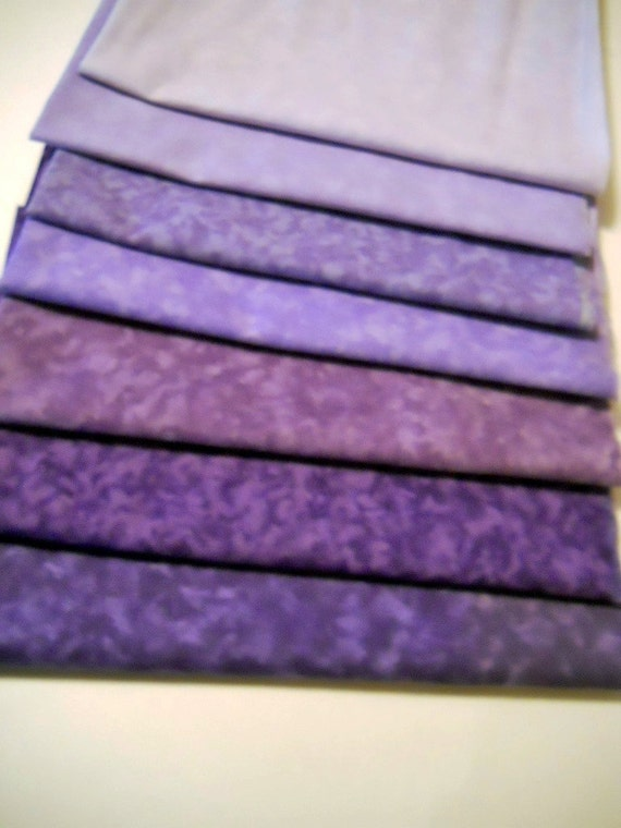 Seven Fat Quarters - Shades of Purple