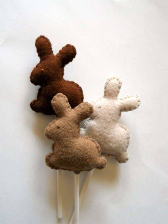 Bunnies on a Stick - Miniature Rabbits