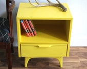 RESERVED FOR Baby Woods Mid Century Modern Sunshine Yellow Side Table