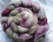 Urbane: Natural dyed BFL wool tops in sage and pinks