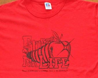Fitness For Life Davenport Iowa vintage tshirt medium