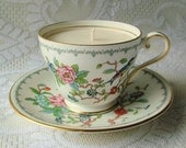 Hand Painted Vintage Aynsley Scented Tea Cup Candle