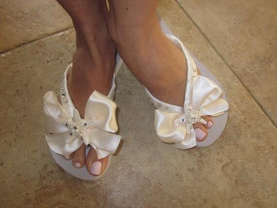 Bridal Flip Flops Wedding Flip Flops Bridal Shoes Wedding