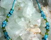 Turquoise & Peridot necklace