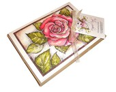 Spring Garden Rose Blank Greeting Cards - 10 Cards